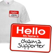 Obama Supporter Name Tag