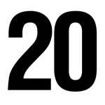Number 20 Helvetica