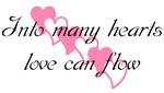 Into many hearts love can flow (diagonal hearts)