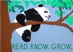 Panda says Read.Know.Grow.
