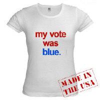T-SHIRTS - my vote was blue