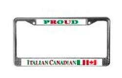Italian Canadian License Plates Frames