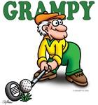 Grampy Golfer Poised