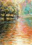 Quiet Lake in Pastel