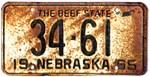 1965 Nebraska License Plate