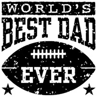 World's Best Dad Ever Football t-shirts