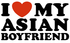 I Love My Asian Boyfriend t-shirts