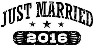 Just Married 2016 t-shirts