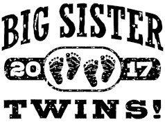 Big Sister Twins 2017 t-shirt