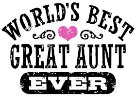 World's Best Great Aunt Ever t-shirt