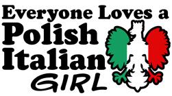 Polish Italian Girl t-shirts