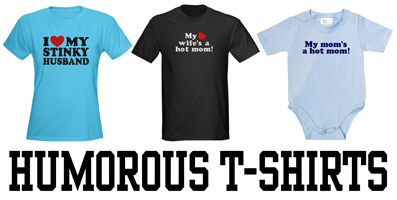 Humorous t-shirts and gifts