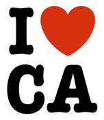 I Heart CA t-shirt