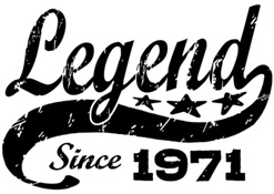Legend Since 1971 t-shirt