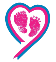Pink footprint ribbon