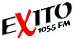 Radio Exito Logo Angled (Black w Blue Outline)
