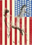 Patriotic Horse-American Flag