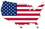 Stars and Stripes Map