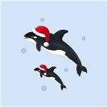 Christmas Orca Whale