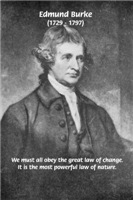 Political Writer: Edmund Burke: Law of Change