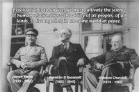 2nd World War: Stalin Roosevelt Churchill