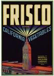 Frisco Fruit Crate Label