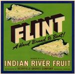 Flint Fruit Crate Label