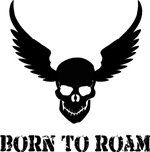 Born To Roam Winged Skull
