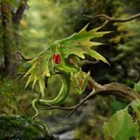 Ruby Birthstone Leaf Dragon