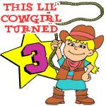 This Little Cowgirl Turned 3