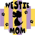 Westie Mom - Yellow/Purple Stripe