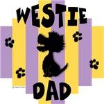 Westie Dad - Yellow/Purple Stripe