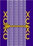 Cross Country Running Purple gold