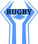 Rugby Light Blue and White