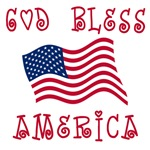 God Bless America with American Flag