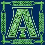 Celtic Font Blue and Green Monogram