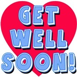 Get Well Soon Plush Toy in Blue