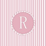 Pink and White Candy Stripes Monogram Tote