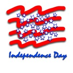 Stylized Graphic Independence Day