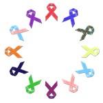 Awareness Ribbon (Multi Ribbon) Round A2