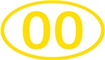 Number Ovals - 00 to 49 (Gold)