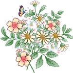 Apple Blossom and Daisy floral