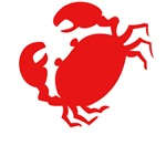 Cute Red Crab Outline