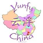 Yunfu China Map