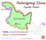 Heilongjiang, China mini Map