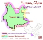 Yunnan, China mini Map