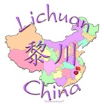 Lichuan Color Map, China