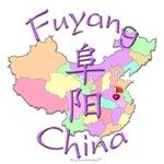 Fuyang China Color Map