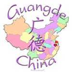 Guangde China Color Map