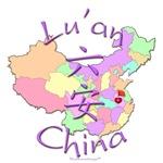 Lu'an China Color Map